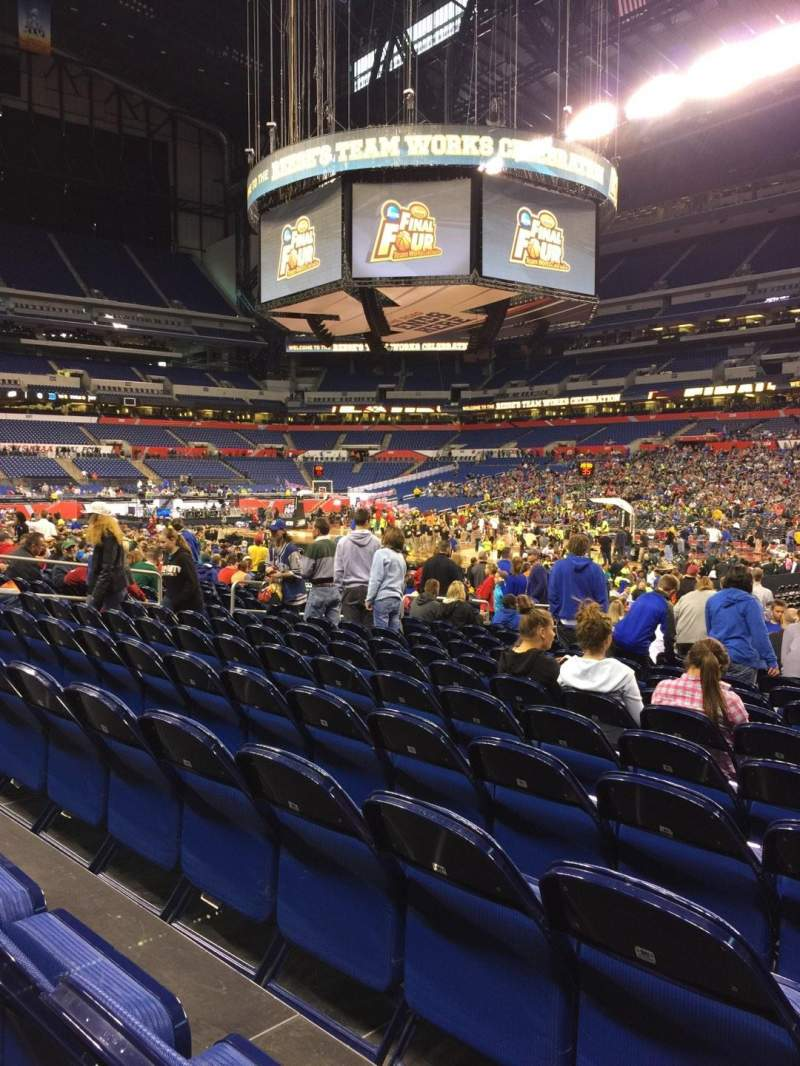 Seating view for Lucas Oil Stadium Section 109 Row CC Seat 8