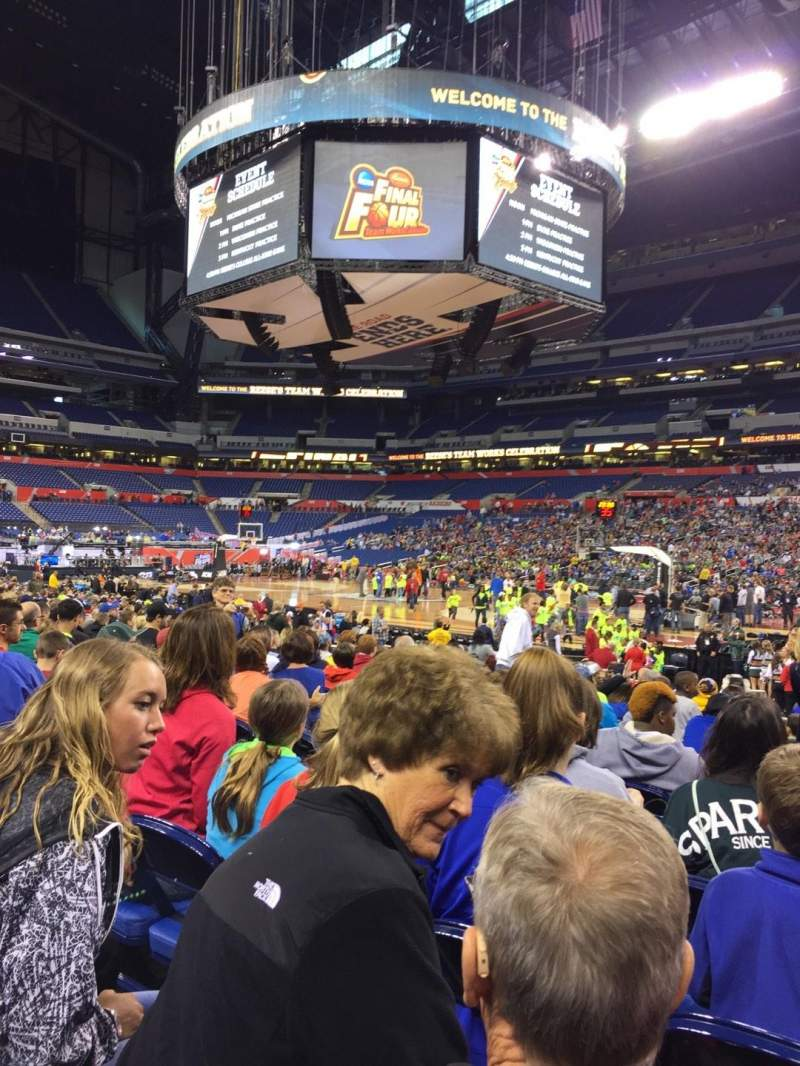Seating view for Lucas Oil Stadium Section 110 Row V Seat 2