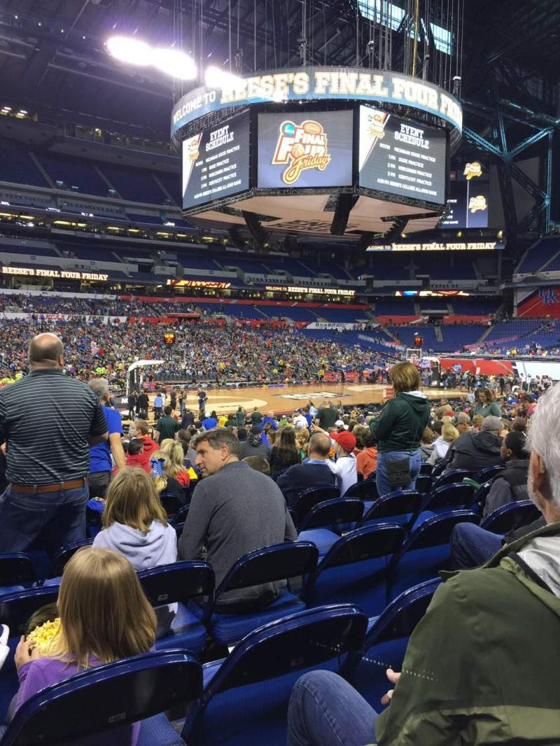 Seating view for Lucas Oil Stadium Section 116 Row EE Seat 20