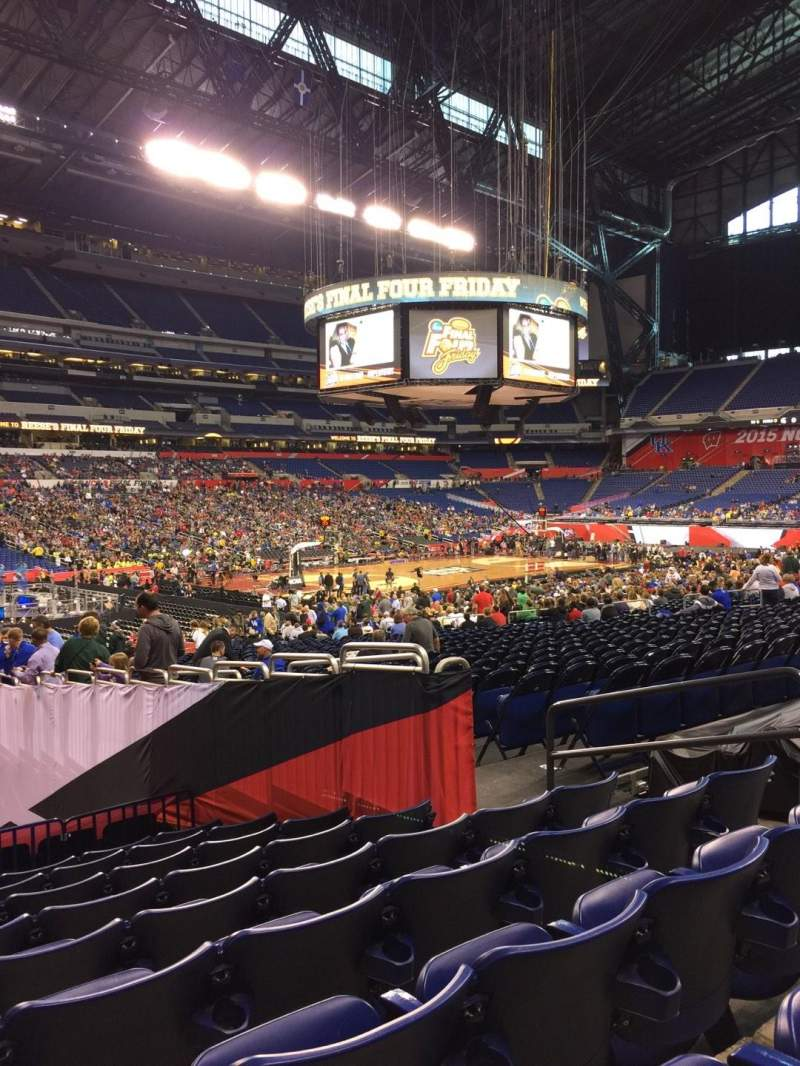 Seating view for Lucas Oil Stadium Section 118 Row 24 Seat 8