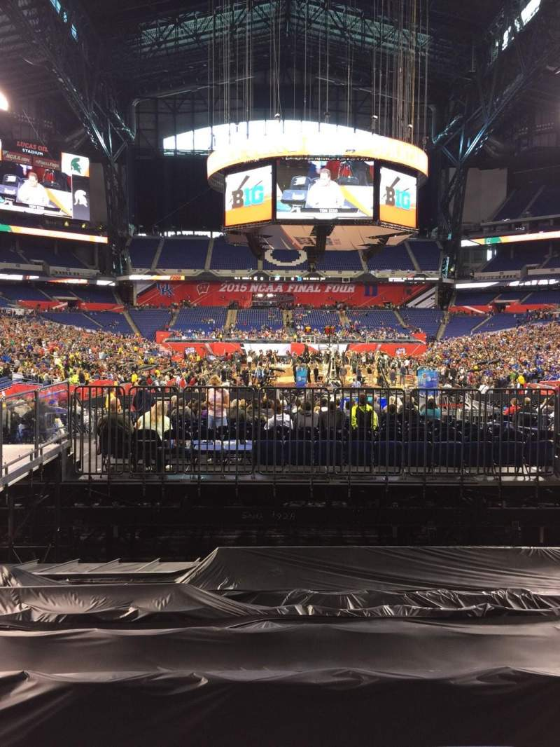 Seating view for Lucas Oil Stadium Section 127 Row 15 Seat 10