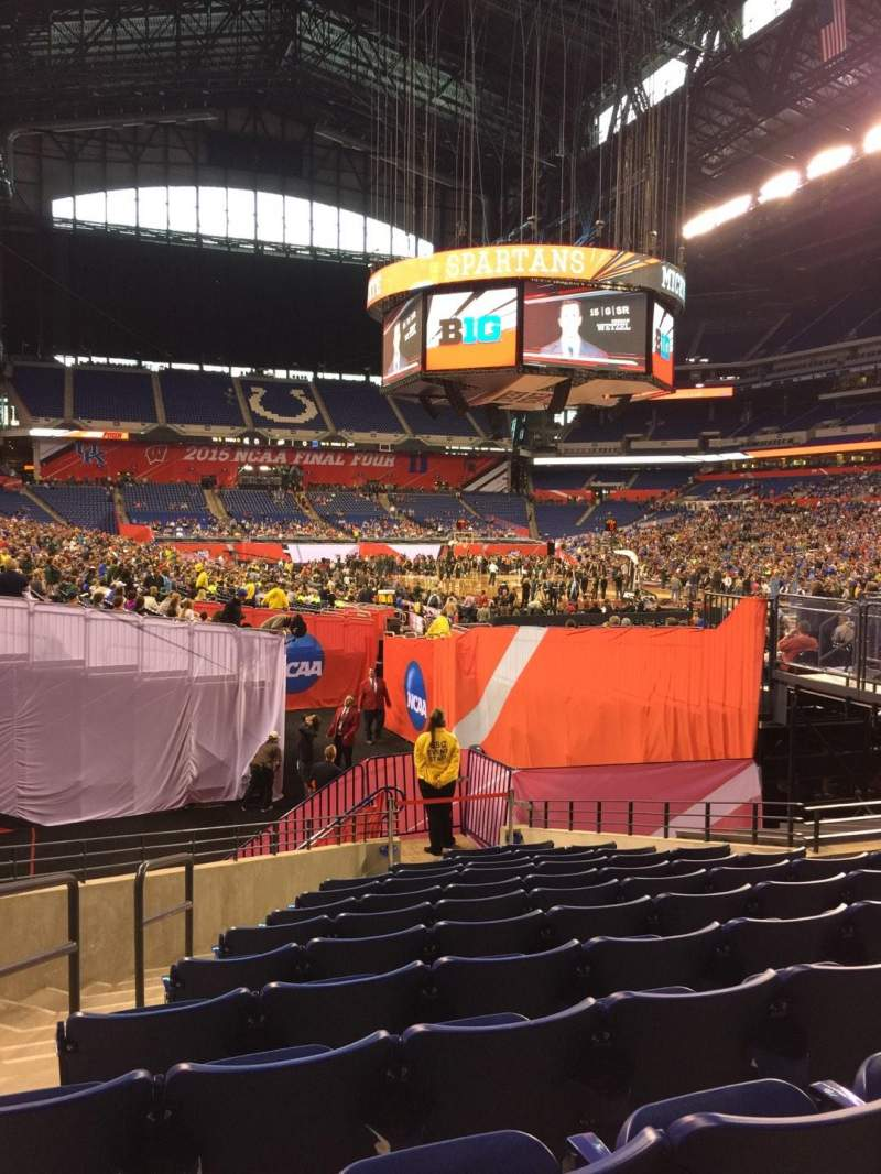 Seating view for Lucas Oil Stadium Section 129 Row 15 Seat 16