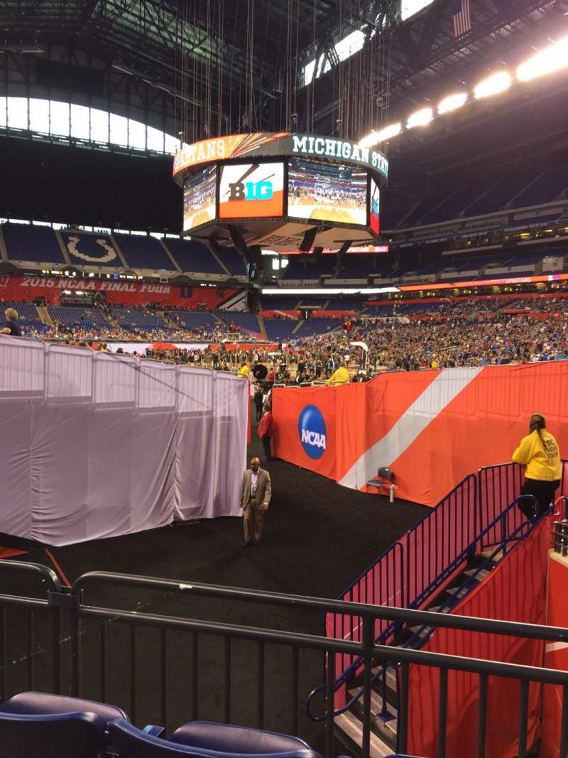 Seating view for Lucas Oil Stadium Section 132 Row 10 Seat 4