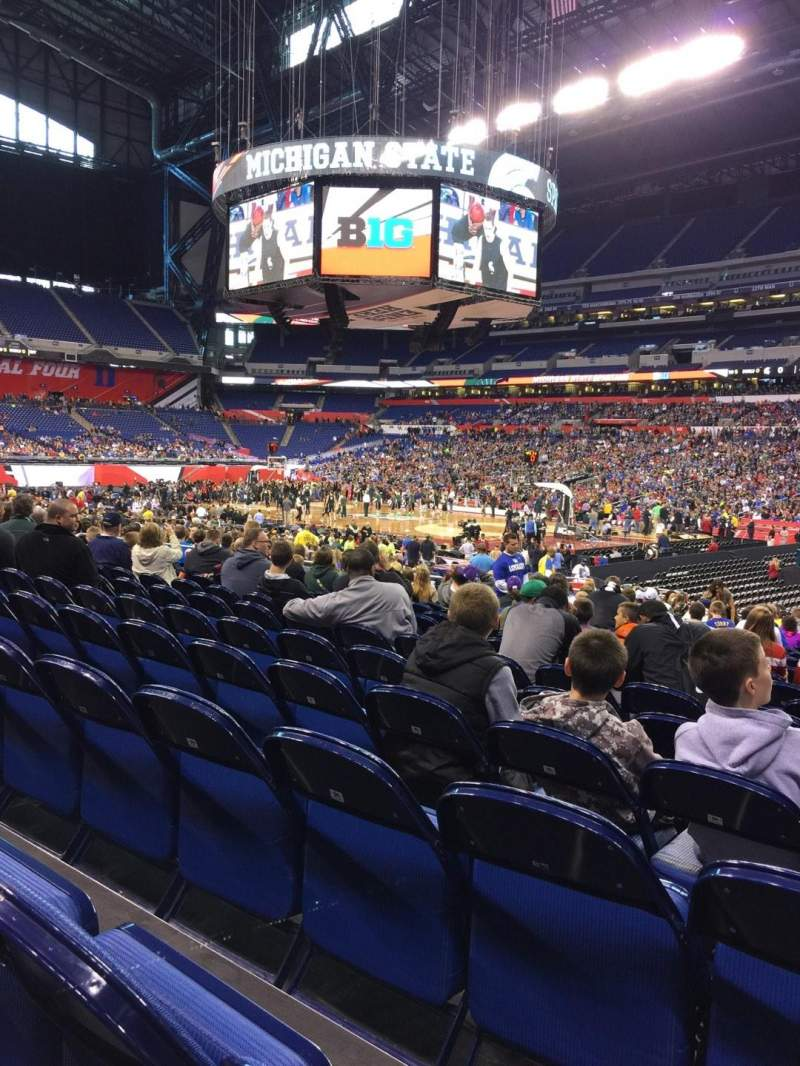 Seating view for Lucas Oil Stadium Section 136 Row JJ Seat 5