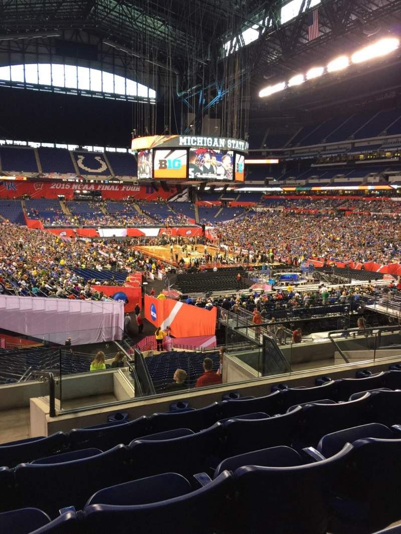 Seating view for Lucas Oil Stadium Section 230 Row 9 Seat 11