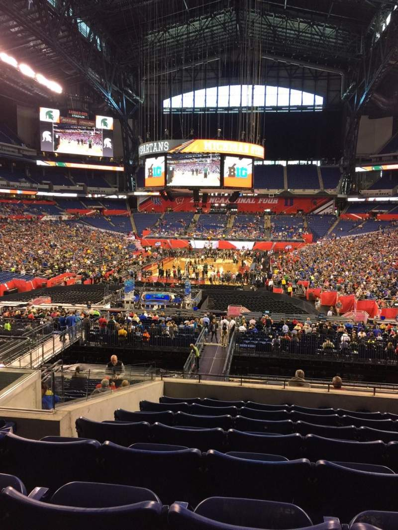 Seating view for Lucas Oil Stadium Section 225 Row 8 Seat 15