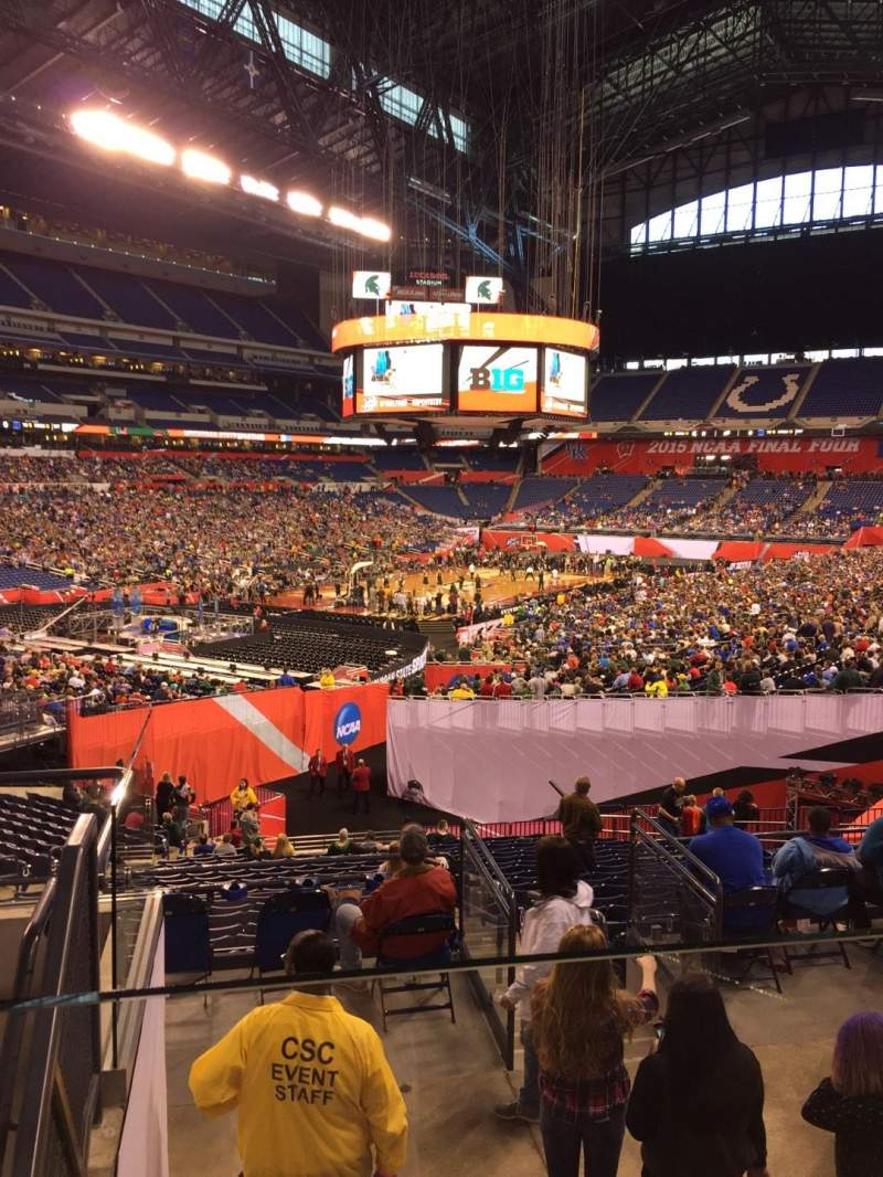 Seating view for Lucas Oil Stadium Section 221 Row 5 Seat 10