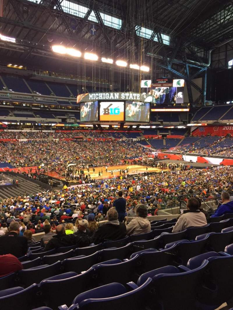 Seating view for Lucas Oil Stadium Section 217 Row 11 Seat 19