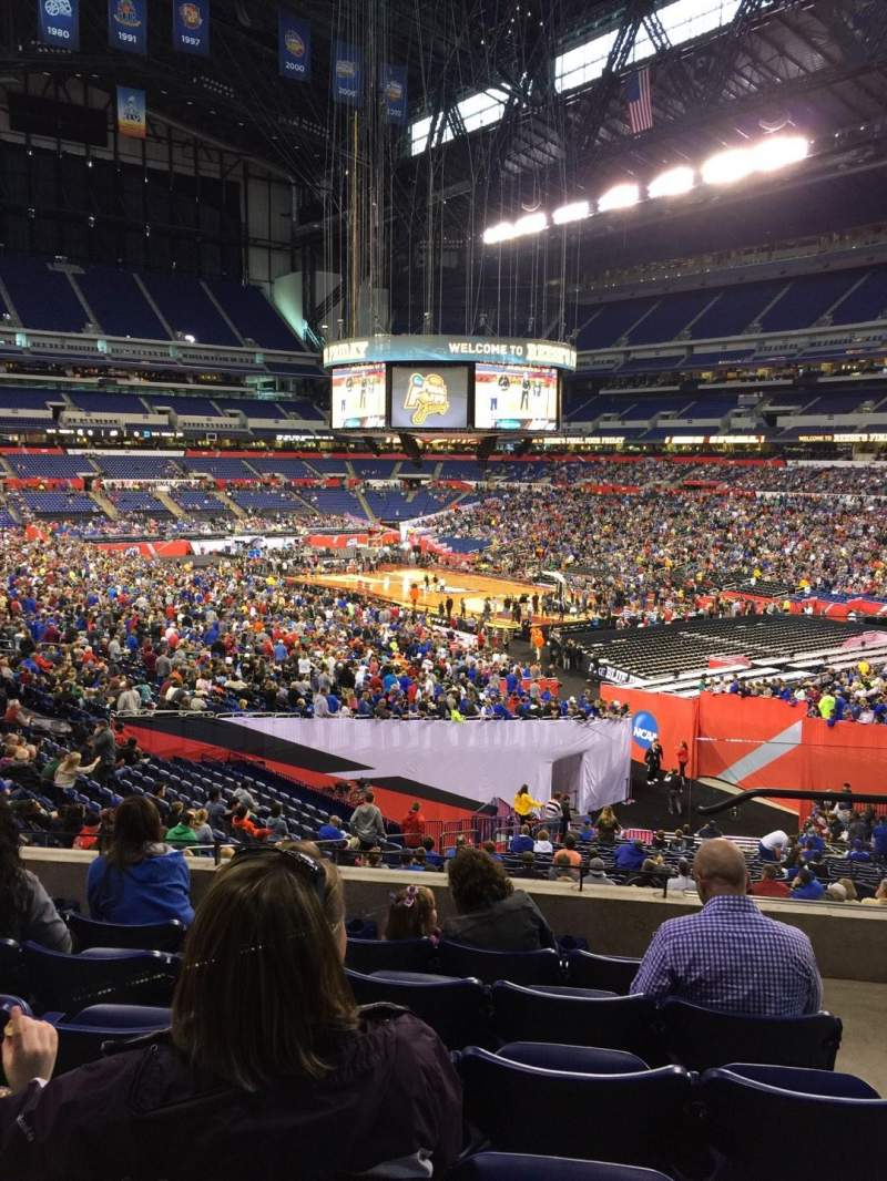 Seating view for Lucas Oil Stadium Section 206 Row 6 Seat 2