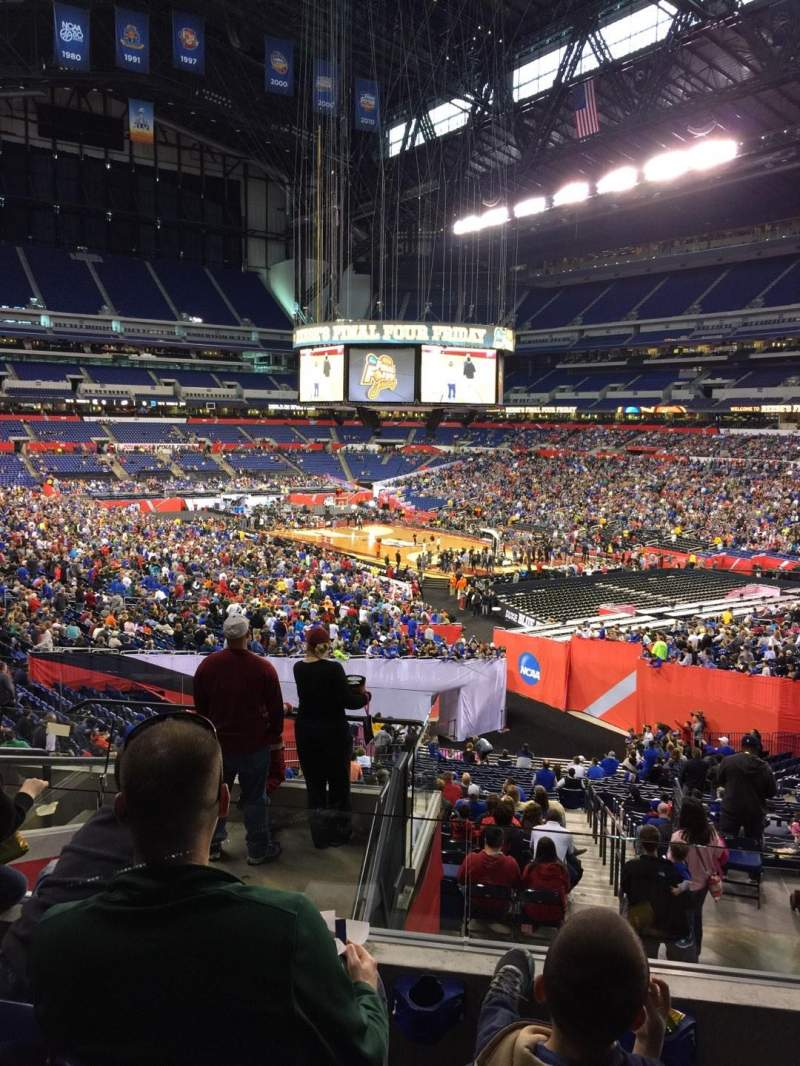 Seating view for Lucas Oil Stadium Section 205 Row 8 Seat 8