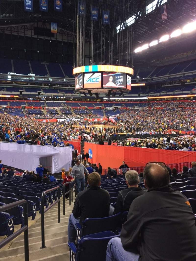 Seating view for Lucas Oil Stadium Section 103 Row 29 Seat 19