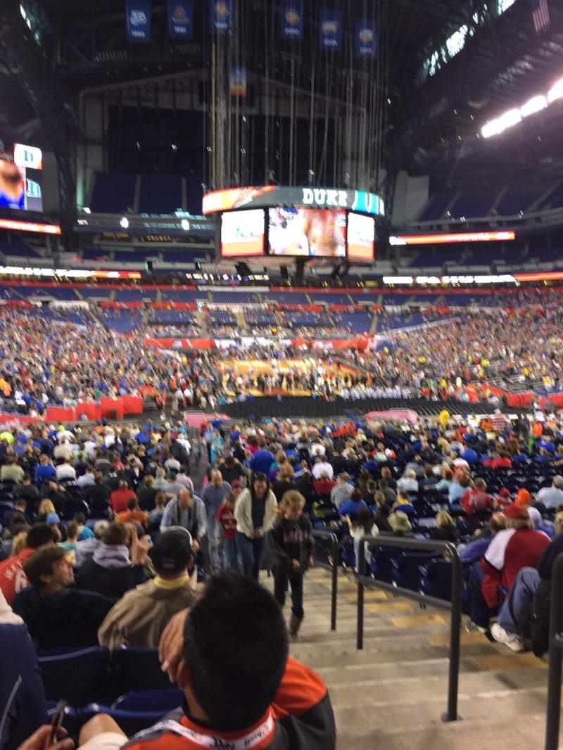Seating view for Lucas Oil Stadium Section 102 Row 33 Seat 2