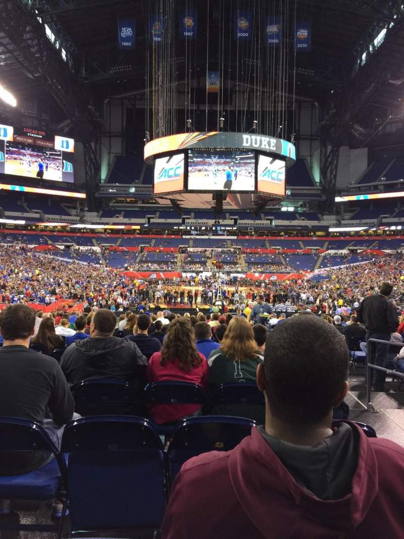 Seating view for Lucas Oil Stadium Section 101 Row U Seat 2