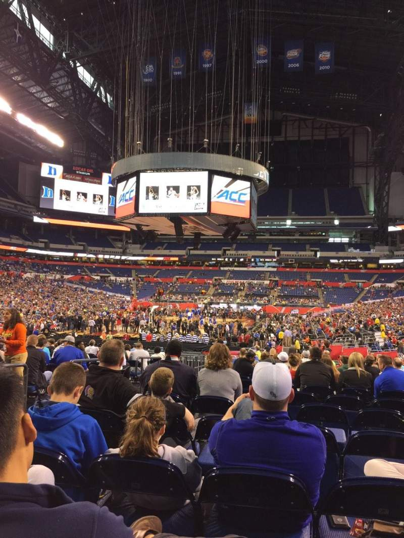 Seating view for Lucas Oil Stadium Section 152 Row P Seat 21