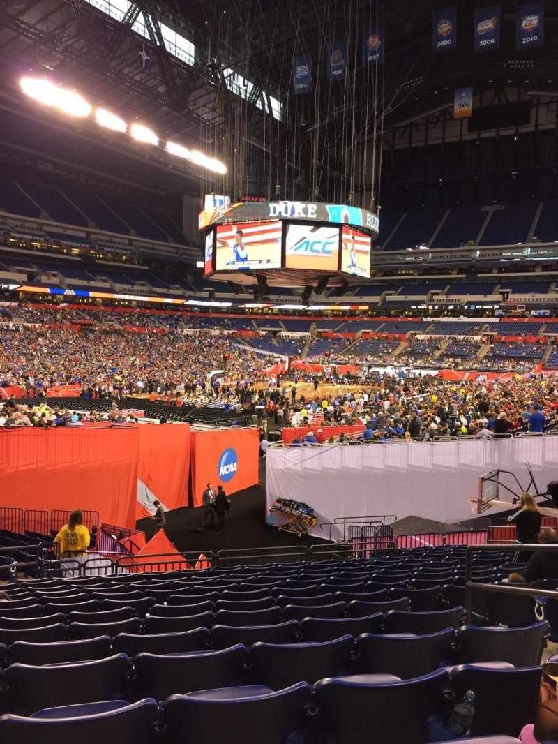 Seating view for Lucas Oil Stadium Section 148 Row 24 Seat 23