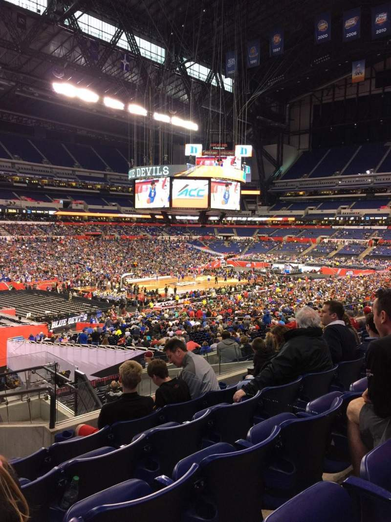 Seating view for Lucas Oil Stadium Section 245 Row 9 Seat 25