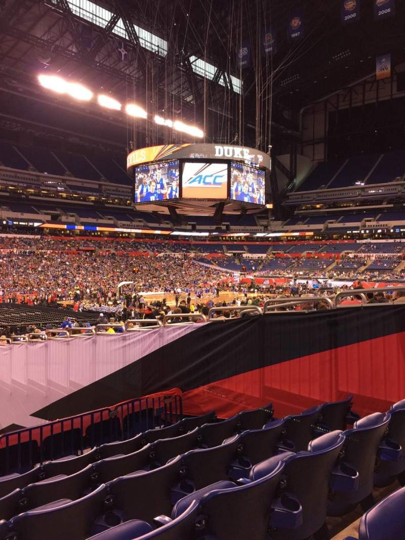 Seating view for Lucas Oil Stadium Section 145 Row 21 Seat 9