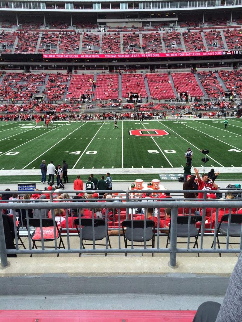 Seating view for Ohio Stadium Section 22A Row 3 Seat 4