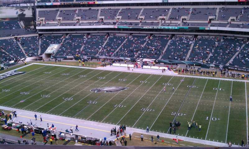 Seating view for Lincoln Financial Field Section 205 Row 5 Seat 16