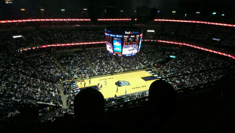 Seating view for FedEx Forum Section 206 Row k Seat 6