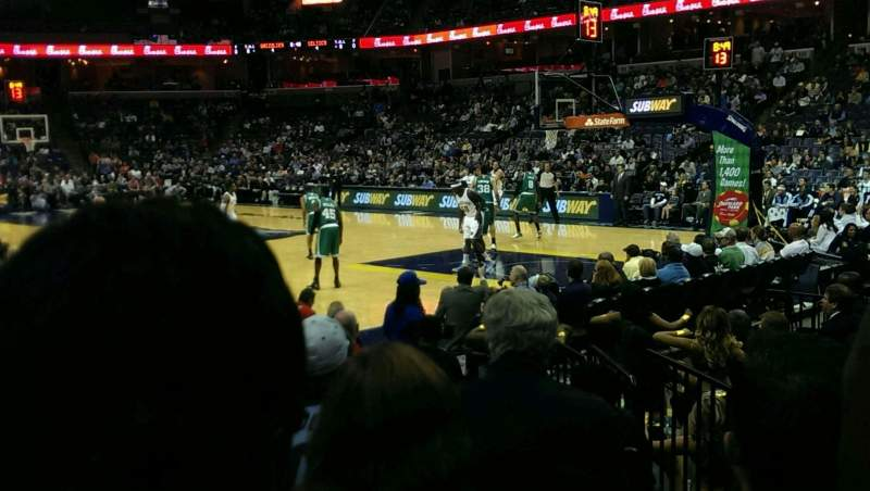 Seating view for FedEx Forum Section 116 Row l Seat 2