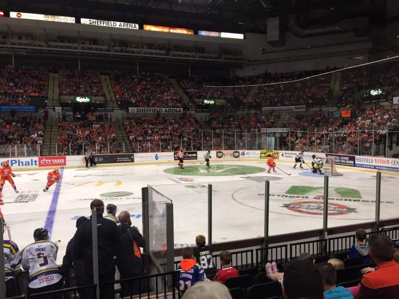 Seating view for FlyDSA Arena Section 105 Row H Seat 1
