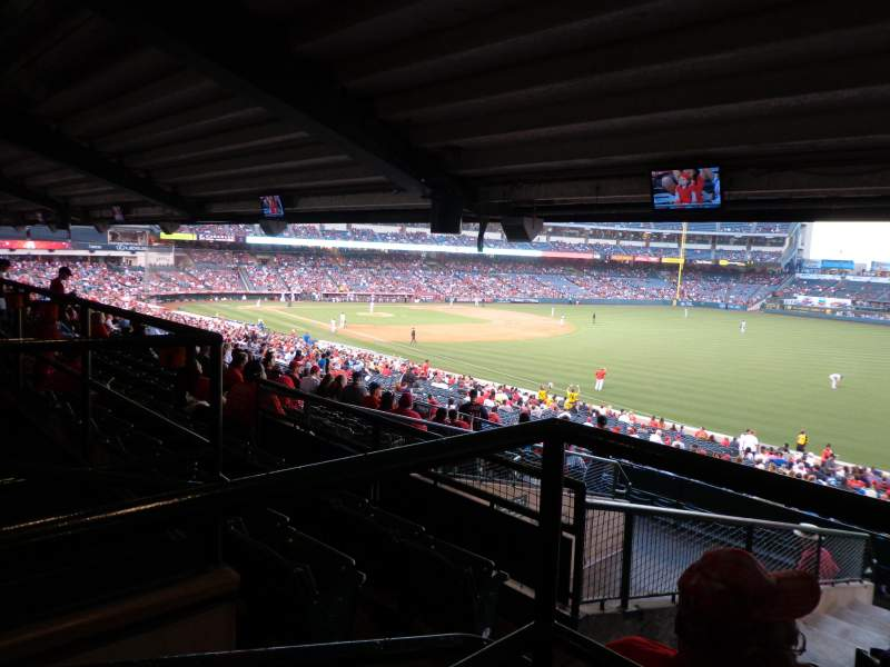 Seating view for Angel Stadium Section T229 Row AA Seat 1