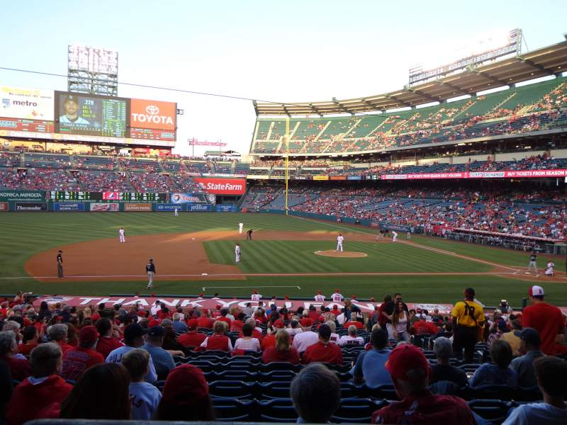 Seating view for Angel Stadium Section T211 Row A