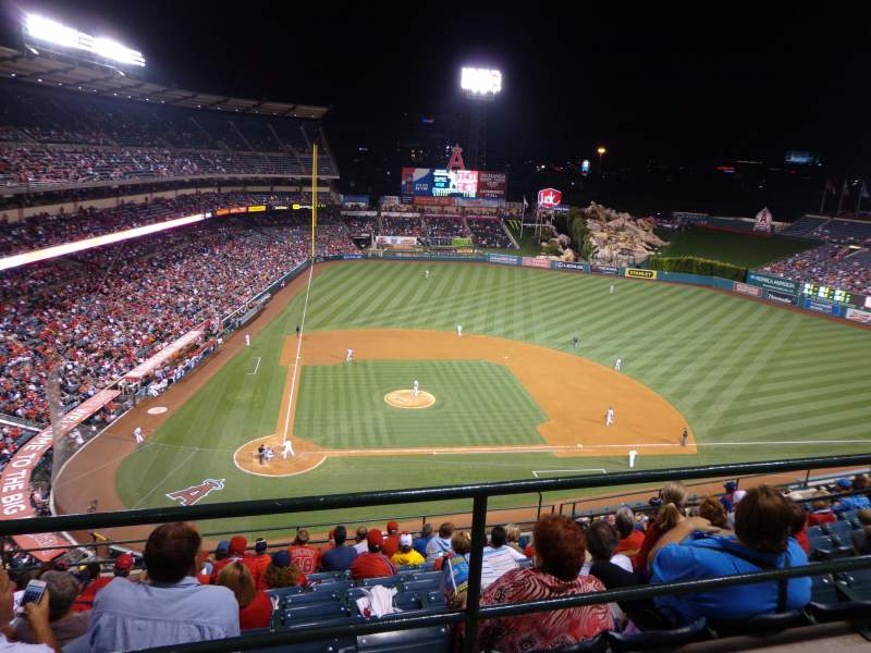 Seating view for Angel Stadium Section 525 Row A