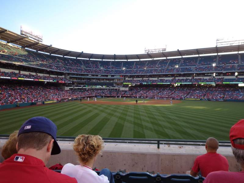 Seating view for Angel Stadium Section P238 Row D