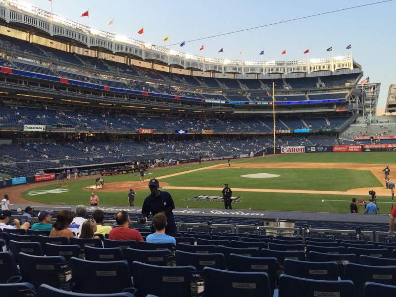 Seating view for Yankee Stadium Section 116 Row 20 Seat 8