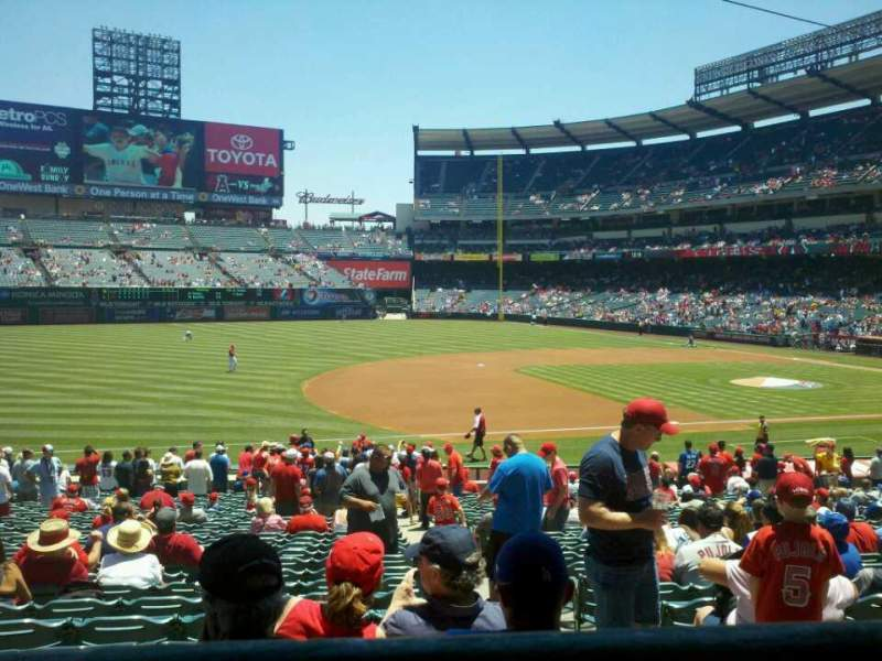 Seating view for Angel Stadium Section T209 Row A Seat 14