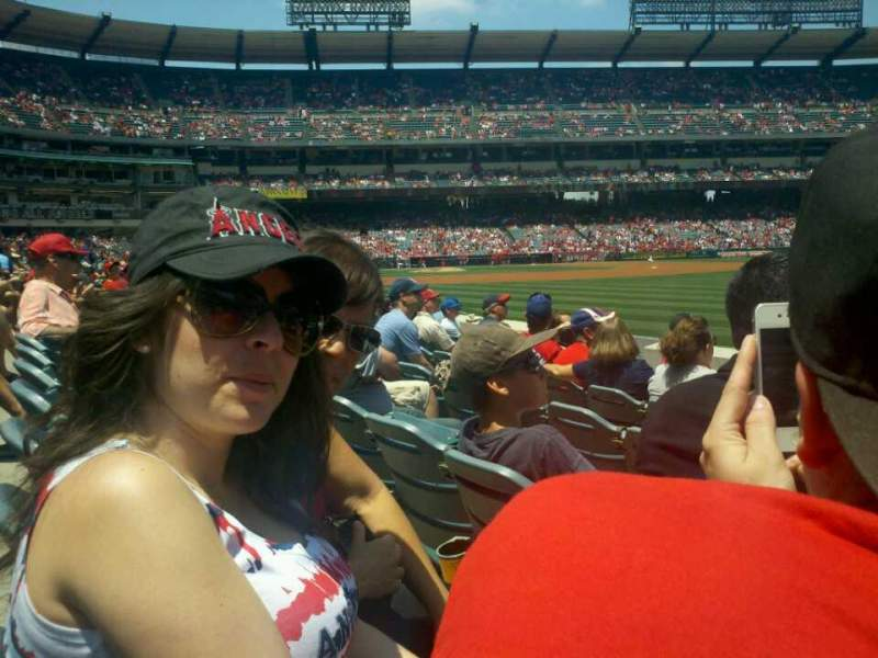 Seating view for Angel Stadium Section F131 Row f Seat 17