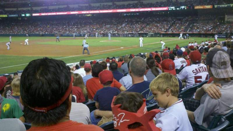 Seating view for Angel Stadium Section 108 Row n Seat 10