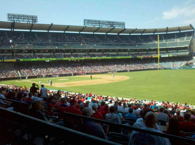Seating view for Angel Stadium Section T228 Row A Seat 13,14,15