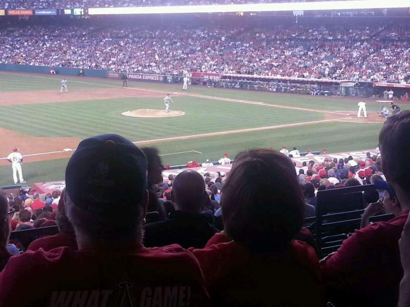 Seating view for Angel Stadium Section T209 Row E Seat 20/21
