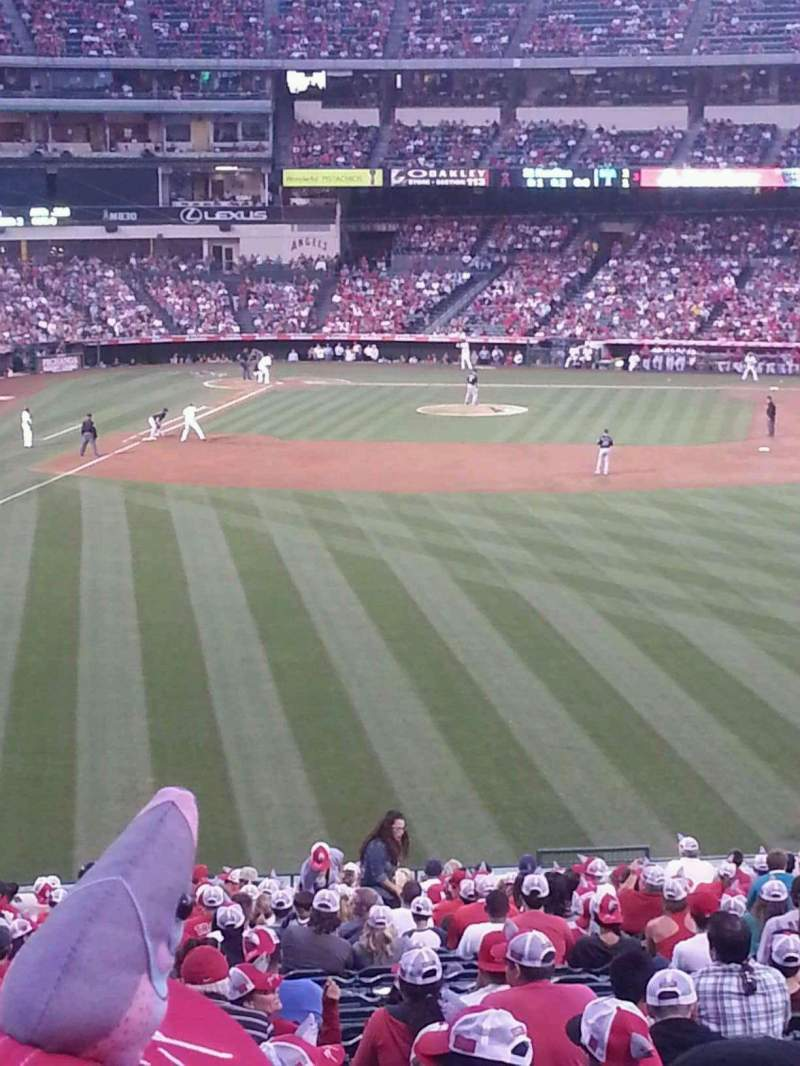 Seating view for Angel Stadium Section p244 Row c Seat 5, 6, 7, 8