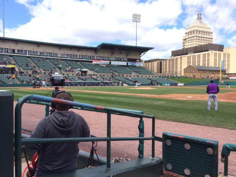 Seating view for Frontier Field Section 104 Row D Seat 1