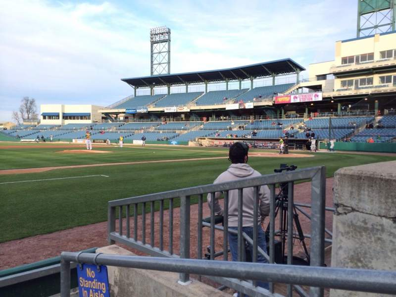 Seating view for NBT Bank Stadium Section 112 Row 3 Seat 1