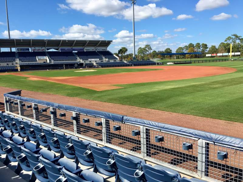 Seating view for Charlotte Sports Park Section 101 Row 3 Seat 4