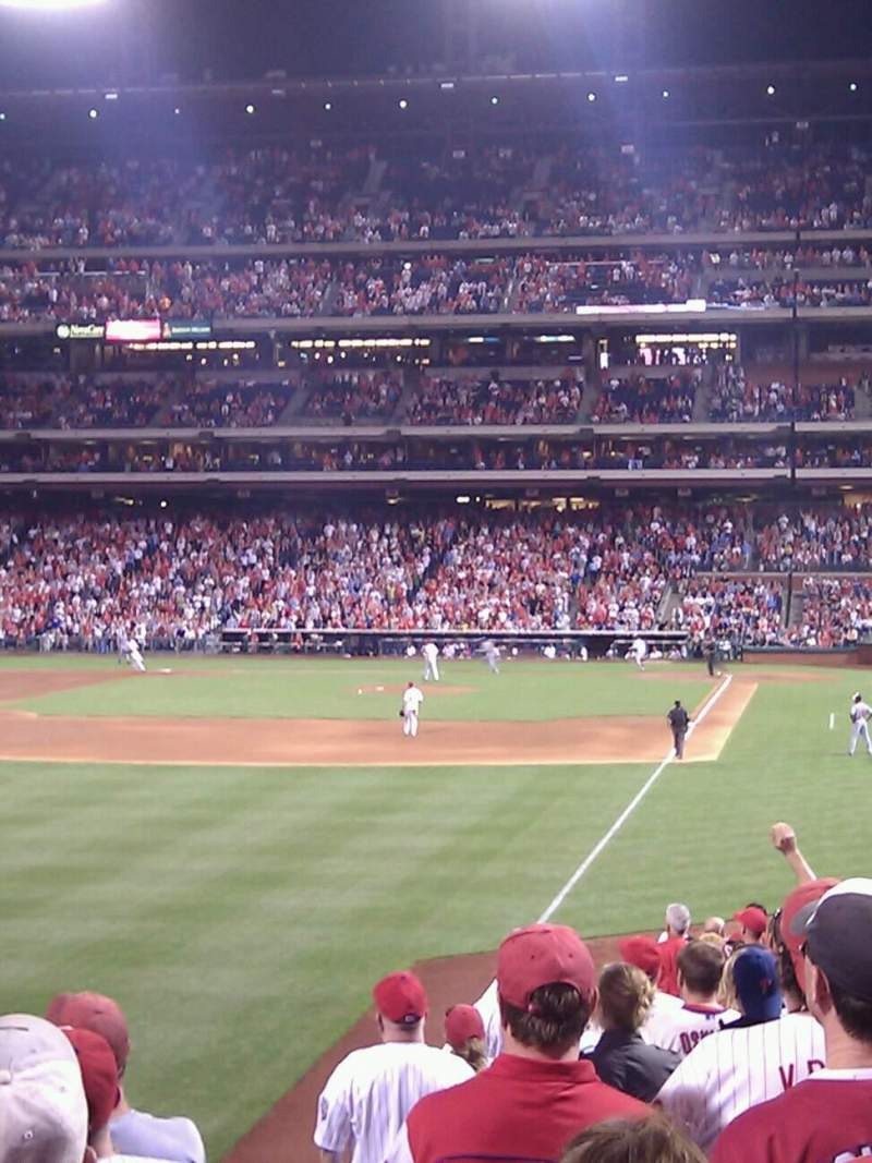 Seating view for Citizens Bank Park Section 140 Row 13 Seat 7