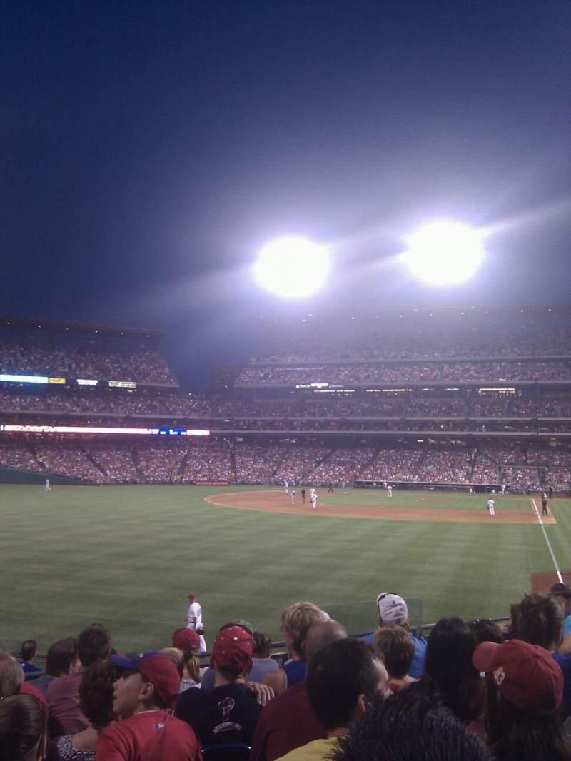 Seating view for Citizens Bank Park Section 141 Row 13 Seat 7