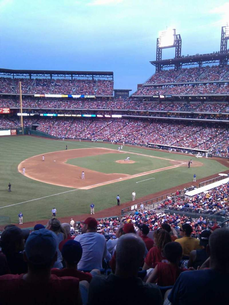 Seating view for Citizens Bank Park Section 233 Row 7 Seat 9