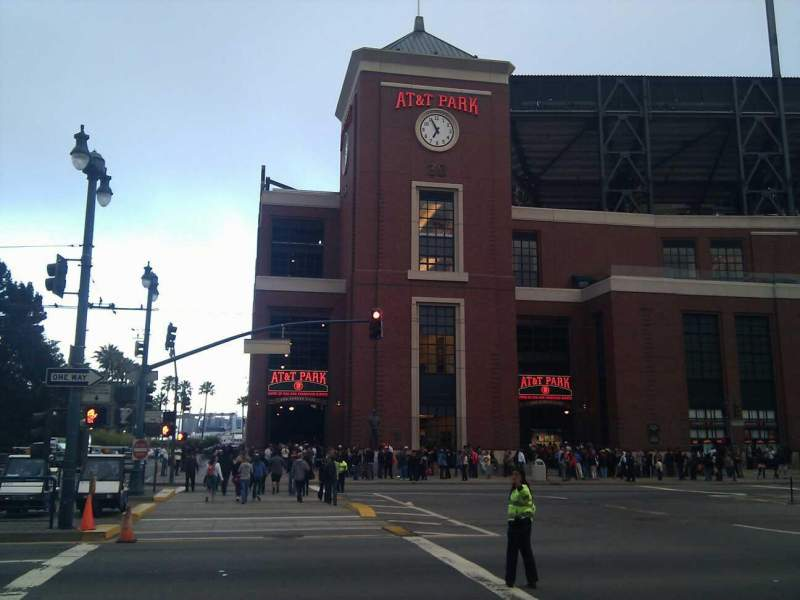 Seating view for Oracle Park Section Second & King Street Entrance