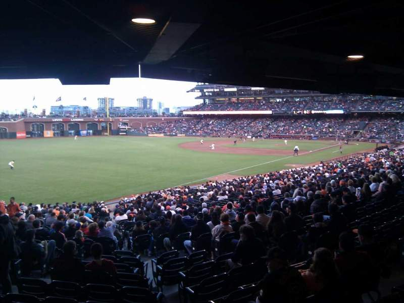 Seating view for AT&T Park Section 133 Row 39 Seat 8