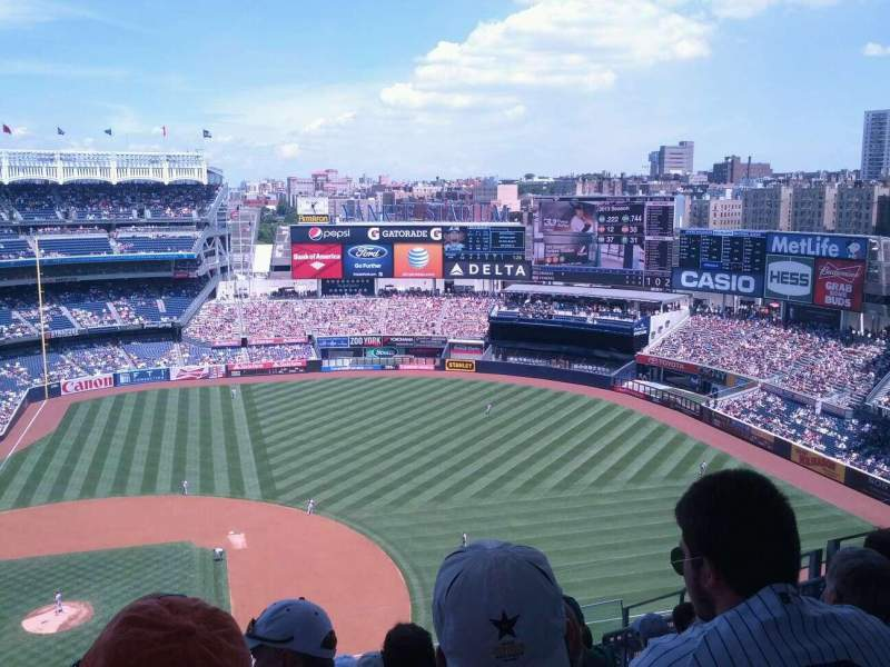Seating view for Yankee Stadium Section 416 Row 10 Seat 10