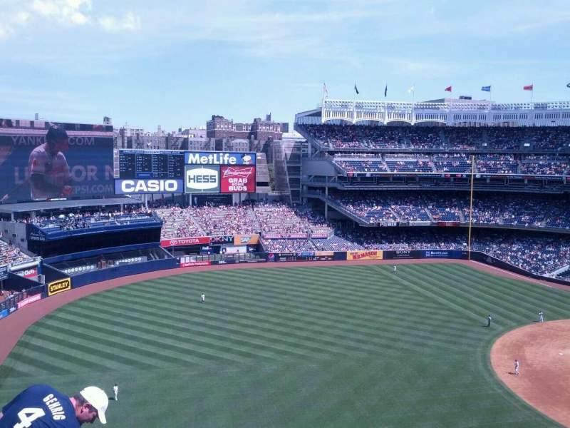 Seating view for Yankee Stadium Section 329 Row 7 Seat 12
