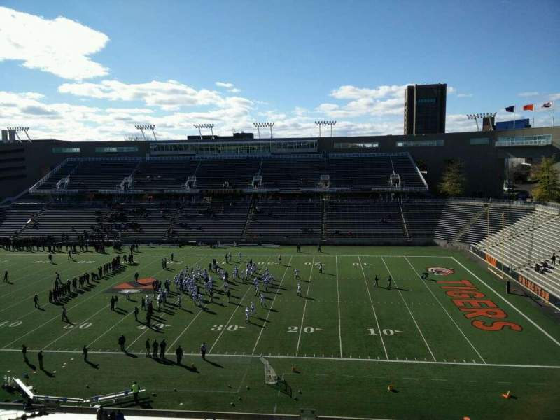 Seating view for Princeton Stadium Section 23 Row 36 Seat 18
