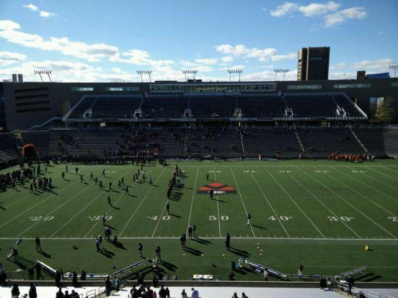 Seating view for Princeton Stadium Section 27 Row 32 Seat 3