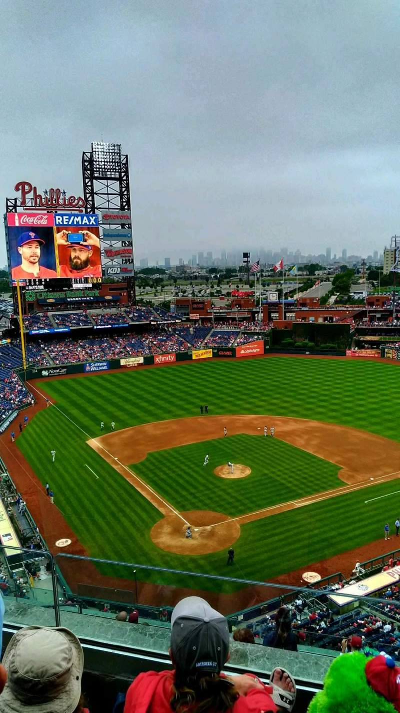 Seating view for Citizens Bank Park Section 419 Row 3 Seat 15
